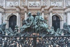 Dekoracyjny metal bramy ornament Obrazy Royalty Free
