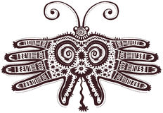 Dekoracyjny motyl kształtować ręki Zdjęcie Stock