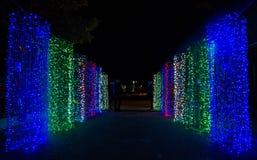 Dekoracyjny oświetlenie w wesoło cristmas obrazy royalty free
