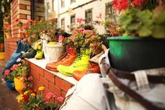 Dekoracyjny ogród w Istanbuł obraz stock