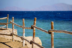 Dekoracyjny ogrodzenie na plaży Zdjęcia Stock