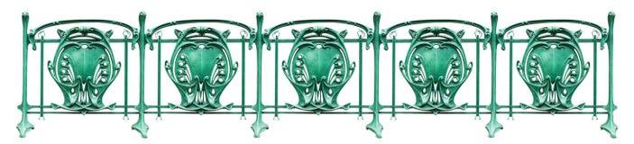 Dekoracyjny ogrodzenie w Francuskim sztuki Nouveau stylu zdjęcie stock