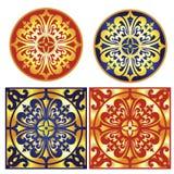 Dekoracyjny ornament z tradycyjnymi średniowiecznymi Europejskimi elementami Zdjęcia Stock