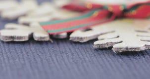 Dekoracyjny płatek śniegu z łękiem zbiory