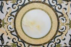 Dekoracyjny panel naturalny marmur z wzorami fotografia royalty free