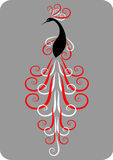 dekoracyjny paw royalty ilustracja