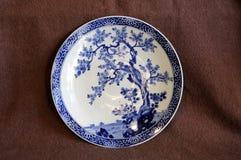 Dekoracyjny porcelana talerz Zdjęcie Stock