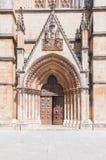 Dekoracyjny portal Batalha monaster Obrazy Stock