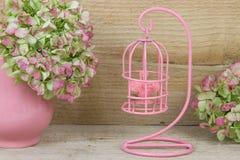 Dekoracyjny różowy birdcage Zdjęcie Stock