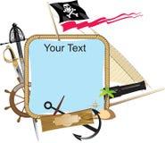 dekoracyjny ramowy pirat Obrazy Stock