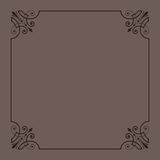 dekoracyjny ramowy rocznik Fotografia Royalty Free