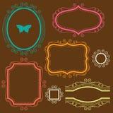 dekoracyjny ramowy set Zdjęcie Stock
