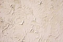 Dekoracyjny reliefowy ecru tynku zbliżenie Fotografia Royalty Free