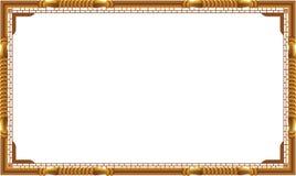 Dekoracyjny rocznik obramia i granicy ustawiać, fotografii rama z kąt linią Obrazy Stock