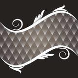 Dekoracyjny rocznika tło Z zmroku tła rhombuses royalty ilustracja