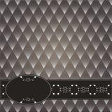 Dekoracyjny rocznika tło Z zmroku tła rhombuses ilustracja wektor