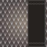 Dekoracyjny rocznika tło Z zmroku tła rhombuses ilustracji