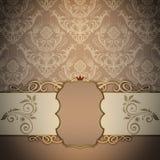 Dekoracyjny rocznika tło i elegancka rama ilustracji