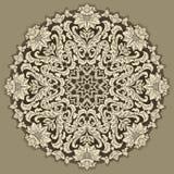 Dekoracyjny round kwiecisty Zdjęcie Royalty Free