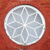 Dekoracyjny round okno Zdjęcie Royalty Free