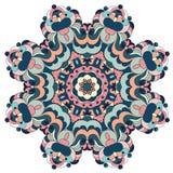 Dekoracyjny round ozdobny mandala dla druku lub sieci projekta Mandala abstrakcjonistyczny kolorowy tło Zdjęcia Stock