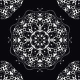 Dekoracyjny round ozdobny mandala dla druku lub sieci projekta Mandala abstrakta tło Fotografia Stock