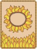 Dekoracyjny słońce Obraz Stock