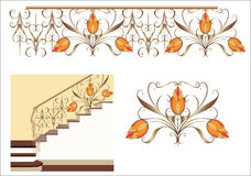 Dekoracyjny schody Fotografia Royalty Free