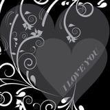 dekoracyjny serce Obrazy Royalty Free