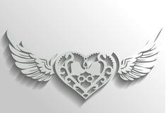 Dekoracyjny serce Ilustracji