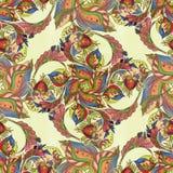 Dekoracyjny skład - Paisley na białym tle Watercol Zdjęcia Stock