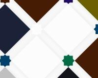 Dekoracyjny skład z kwadrat modą Zdjęcie Stock
