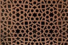 Dekoracyjny szczegół kamienny cyzelowanie w Humayun grobowu obrazy royalty free