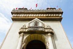 Dekoracyjny szczegół na zwycięstwo bramie w Vientiane kapitał Laos Zdjęcia Royalty Free