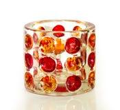 Dekoracyjny szklany świeczka właściciel Obrazy Stock