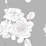 Dekoracyjny tło z róża kwiatami royalty ilustracja