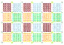 dekoracyjny tło patchwork Fotografia Royalty Free