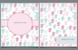 Dekoracyjny tło z dwa pocztówkami Obraz Stock