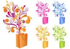 dekoracyjny torba zakupy Fotografia Stock
