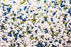 Dekoracyjny tynk na podstawie małych barwionych marmurów kamieni i akrylowego adhezyjnego składu Zdjęcia Stock
