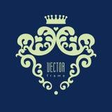 Dekoracyjny wektorowy blazon dla projekta szablonu royalty ilustracja