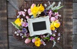 Dekoracyjny wianek dla Easter Zdjęcia Royalty Free