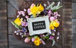 Dekoracyjny wianek dla Easter Obrazy Royalty Free
