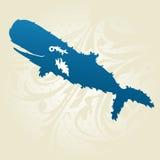 Dekoracyjny wieloryb Obrazy Stock