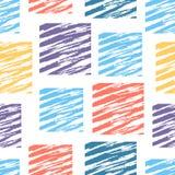 Dekoracyjny wzór z kwadratami Obraz Stock