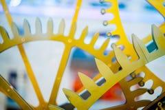 dekoracyjny zegarowy mechanizm z bliska Fotografia Royalty Free