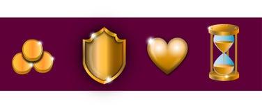 dekoracyjnych projekta elementów złocisty graficzny ikon wektor royalty ilustracja