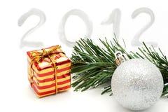 Dekoration 2012 des neuen Jahres Stockbild