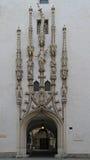 Dekoration alten Rathaus-Turms in Brno Stockfoto