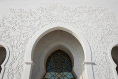 Dekoration auf berühmtem Abu Dhabi Sheikh Zayed Mosque Lizenzfreie Stockfotografie